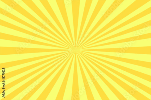 Leinwanddruck Bild Strahlen gelb