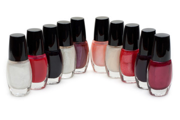 Group of nail polishes