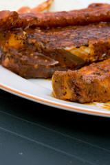 Grillen Fleisch Teller