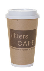 Coffee To Go From Fictional Cafe Isolated