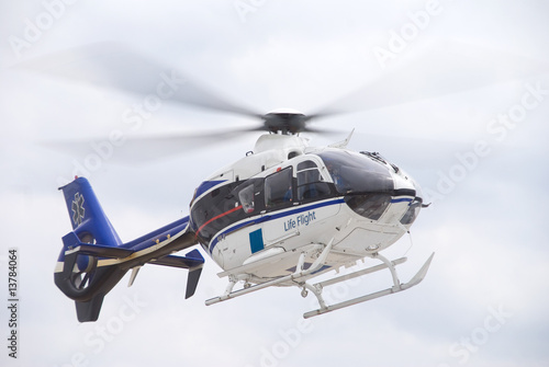 Foto op Canvas Helicopter Life Flight Helecopter