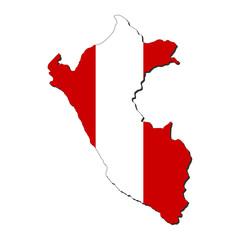 Peru map flag