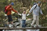 Family trekking poster