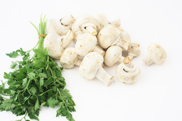 Parsley and group mushrooms