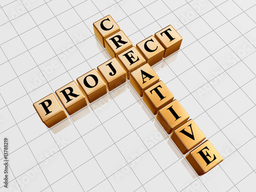 poster of golden creative project like crossword