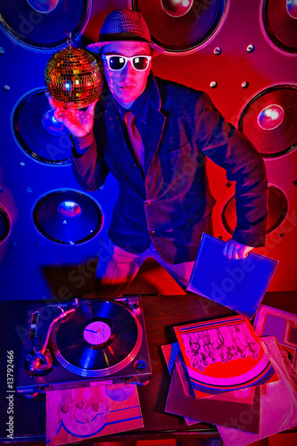DJ with disks