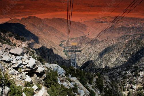 Fototapete Höhenlage - Berg - Seilbahnen