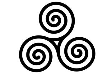 The celtic triple spiral or triskele