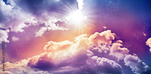 canvas print picture heaven and clouds 3