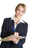 Businesswoman Taking Notes