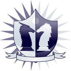 Chess crest - knights