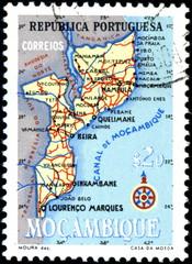 Republica portuguesa. Moçambique. Timbre postal.