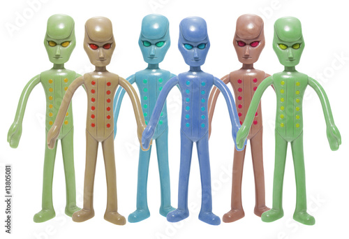 Toy Alien Figures Poster