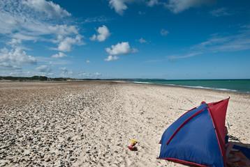Einsamer Strand in Dänemark