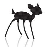Fototapety bambi silhouette vector illustration