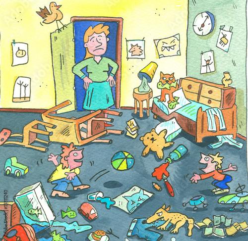 Kinderzimmer chaos stockfotos und lizenzfreie bilder for Kinderzimmer unordnung