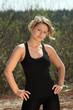 Beautieful blond fitness girl