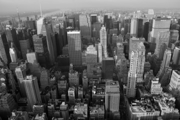 Skyline New York b/w querformatig