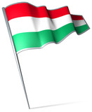 Flag pin - Hungary
