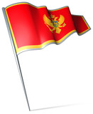 Flag pin - Montenegro poster