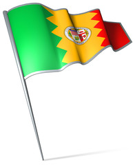 Flag pin - Los Angeles (USA)
