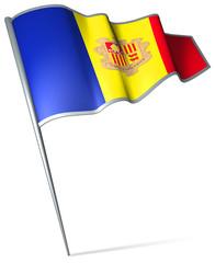 Flag pin - Andorra