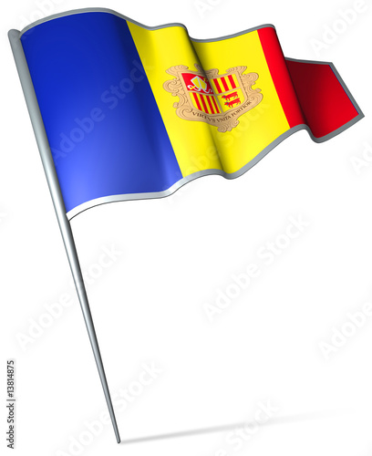 Flag pin - Andorra