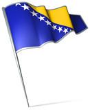 Flag pin - Bosnia and Herzegovina poster