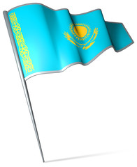 Flag pin - Kazakhstan