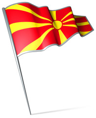 Flag pin - Macedonia