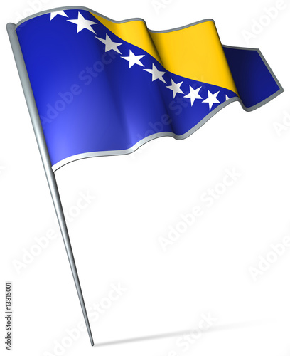 Flag pin - Bosnia and Herzegovina