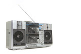 Vintage Boom Box Cassette Tape Player poster