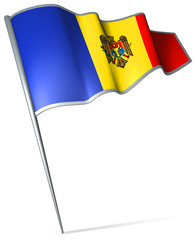 Flag pin - Moldova