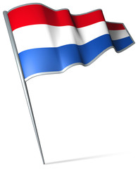 Flag pin - Netherlands