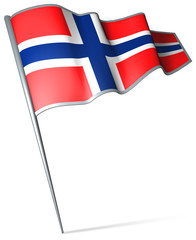 Flag pin - Norway