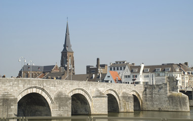 View on the Saint Servatius bridge in Maastricht
