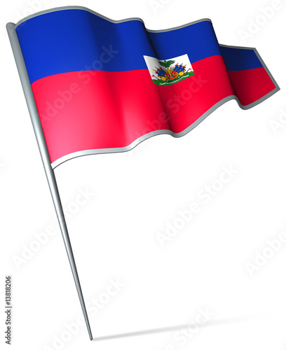 Flag pin - Haiti