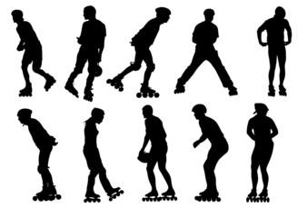 People skate
