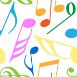 Endless music pattern poster