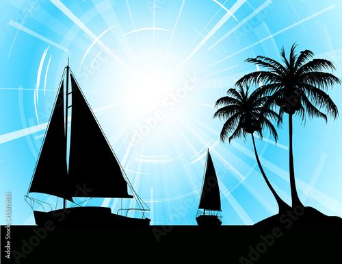 海岛办事处海洋海滩热量热的烧伤背景船蓝色冲浪设置设计赛季体育see