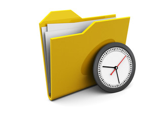 folder icon with clock