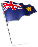 Flag pin - Turks and Caicos Islands poster