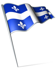 Flag pin - Quebec (Canada)