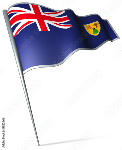 Flag pin - Turks and Caicos Islands