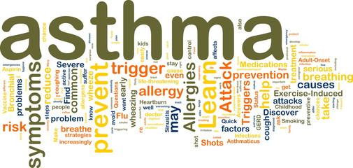 Asthma wordcloud