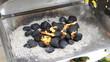 Kohle in Flammen