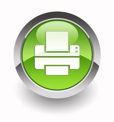 Printer glossy icon