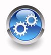 Gear glossy icon
