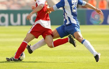 Futbol accion falta