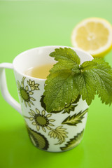 Herb tea with lemon and lemongrass